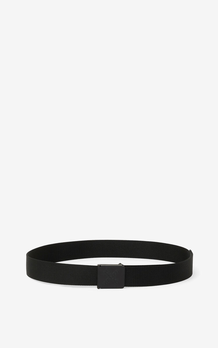BLACK KENZO Sport 'Little X' belt for men