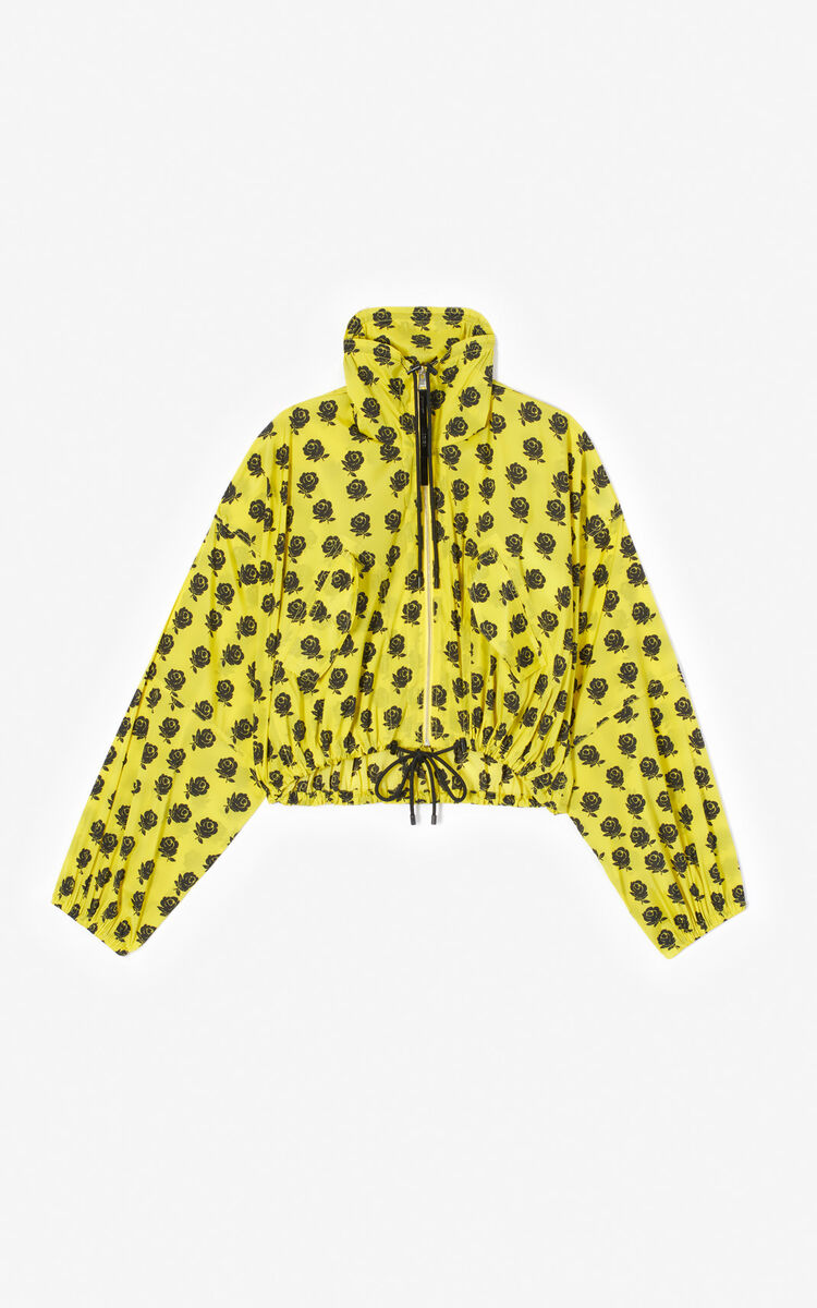 GOLDEN YELLOW 'Roses' windbreaker for women KENZO