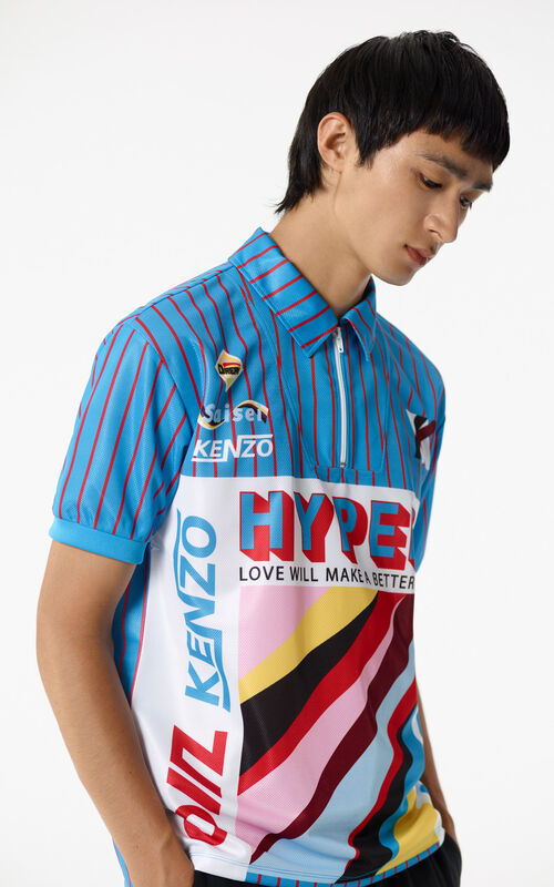 "TURQUOISE 'Hyper KENZO"" Polo for men"