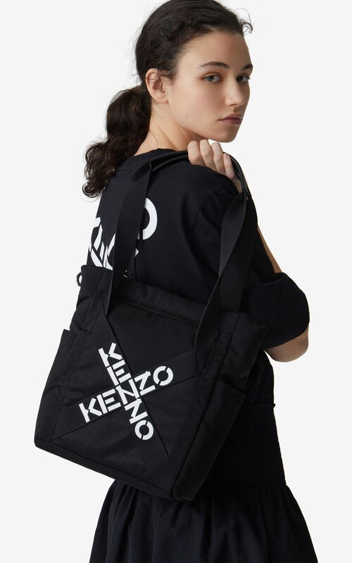 BLACK KENZO Sport small tote bag for men