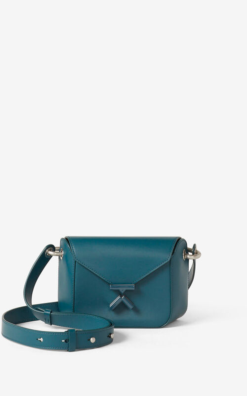 DUCK BLUE KENZO K small leather crossbody bag for women