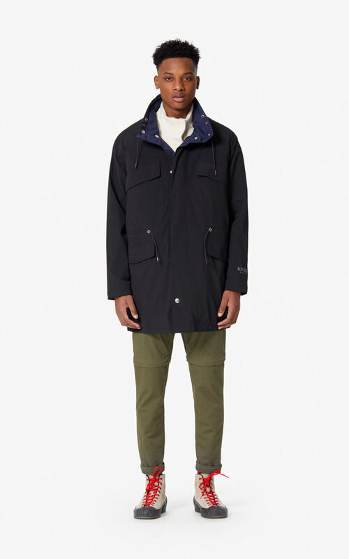 BLACK Reversible lightweight parka for men KENZO