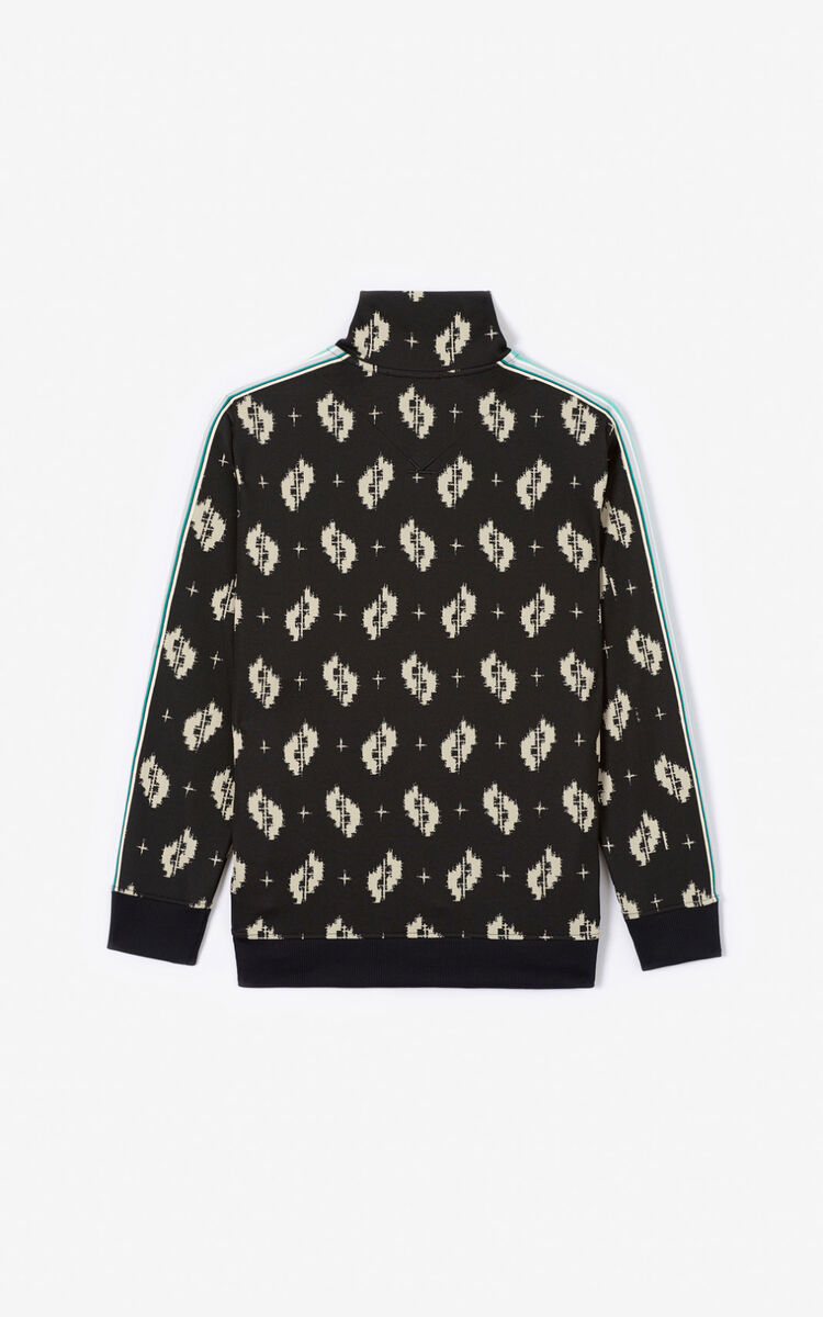 BLACK 'Ikat' zipped jacket for men KENZO