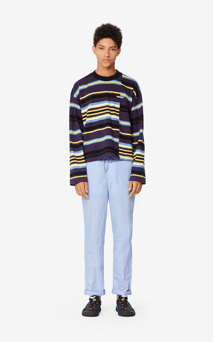AUBERGINE Striped sweatshirt for men KENZO