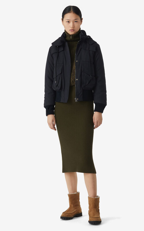BLACK Short parka for women KENZO