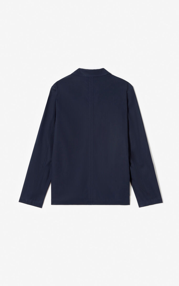 MIDNIGHT BLUE Pea coat for men KENZO