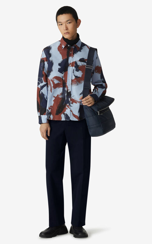 MOROCCAN BROWN 'Brushed Camo' casual shirt  for women KENZO