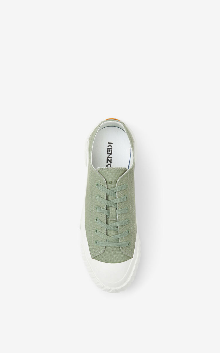 LIME TEA Tiger Crest trainers    for unisex KENZO