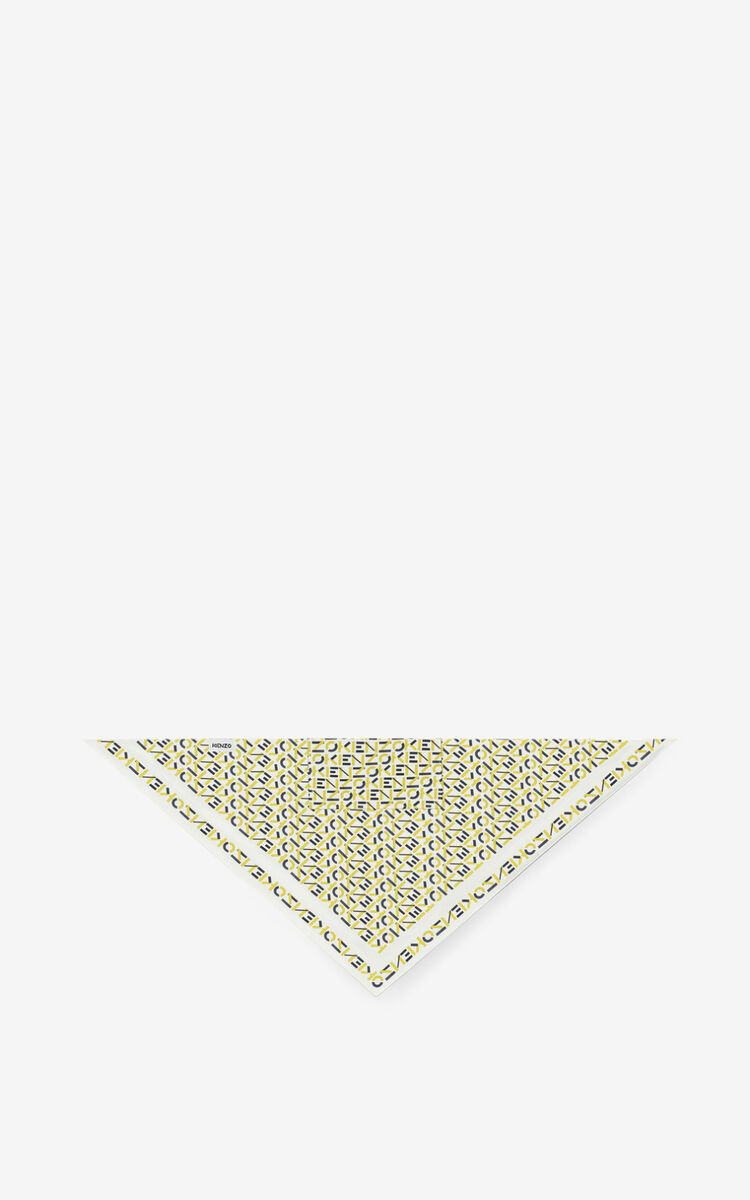 LEMON Silk bandana mask holder for unisex KENZO