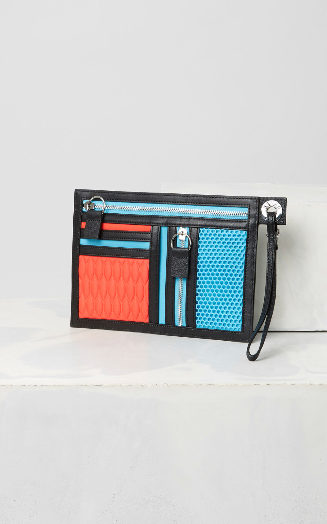 TURQUOISE KENZO Kombo A5 pouch for unisex