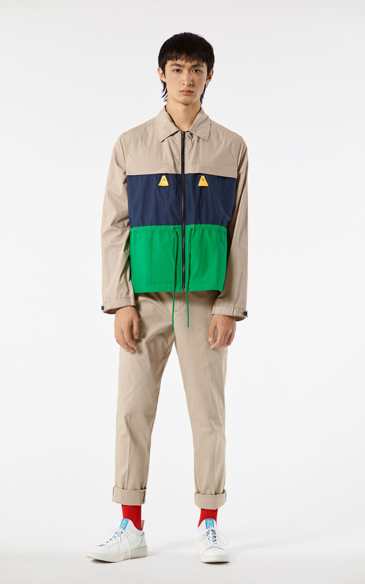 PALE CAMEL 'Hyper KENZO' colourblock jacket for women