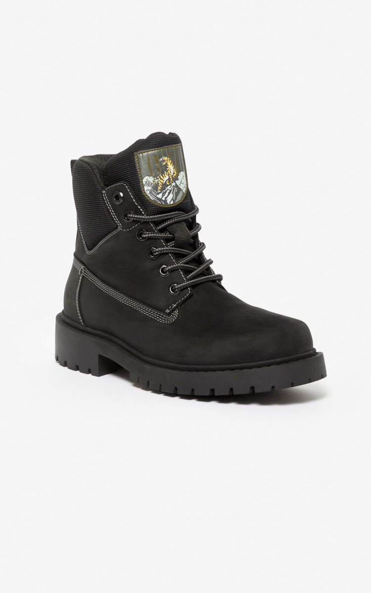 BLACK 'Capsule Expedition' Sierra boots for women KENZO