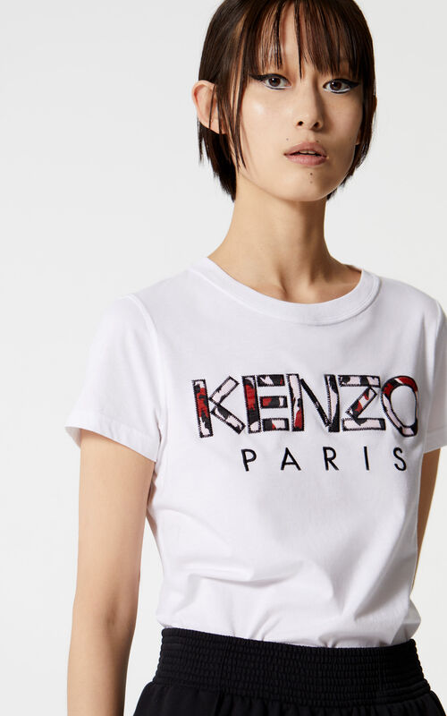 WHITE Leopard print KENZO Paris t-shirt for women
