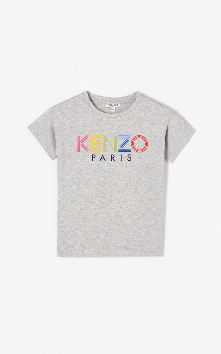 MISTY GREY KENZO logo T-shirt for women