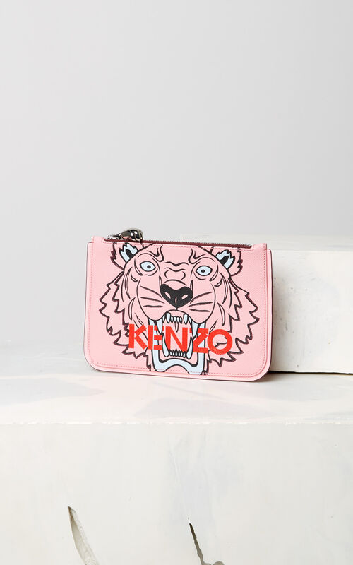 FADED PINK A5 Tiger clutch for unisex KENZO