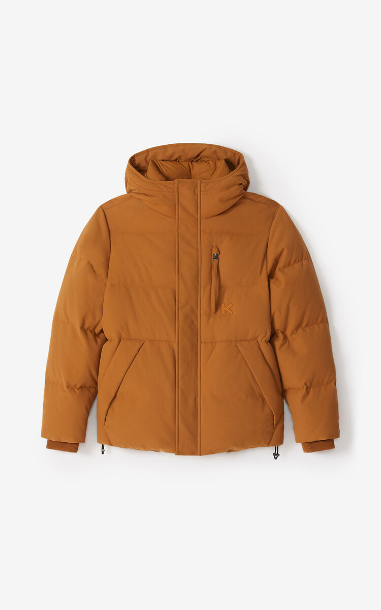 DARK CAMEL Down jacket for women KENZO