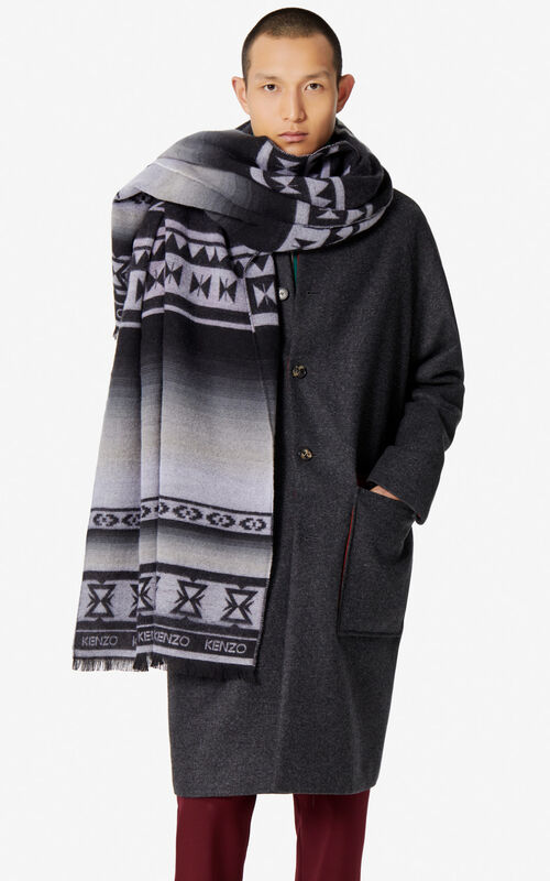 BLACK 'Himalayan' Tiger scarf for women KENZO
