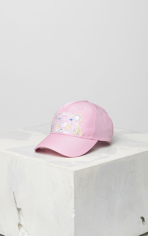 FLAMINGO PINK Tiger Canvas Cap for men KENZO