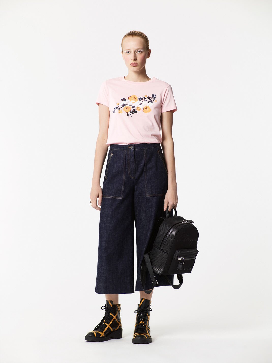 FADED PINK KENZO x Floral Leaf' T-shirt  for women