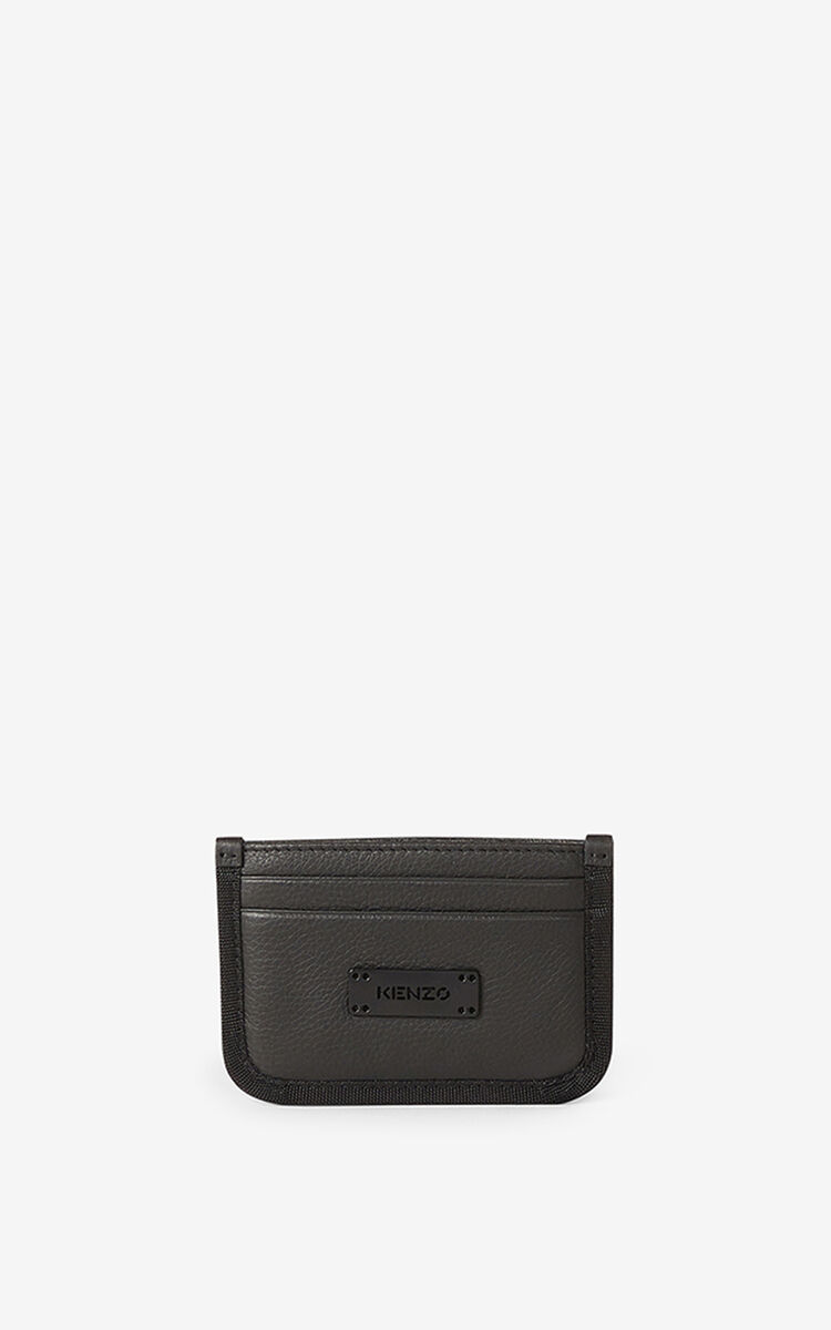 BLACK Courier leather card holder for unisex KENZO