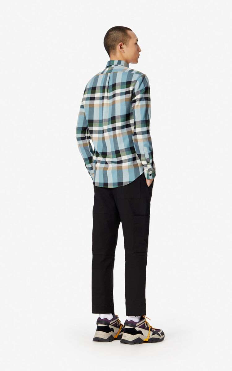 PINE Casual checked 'Jumping Tiger' shirt for men KENZO