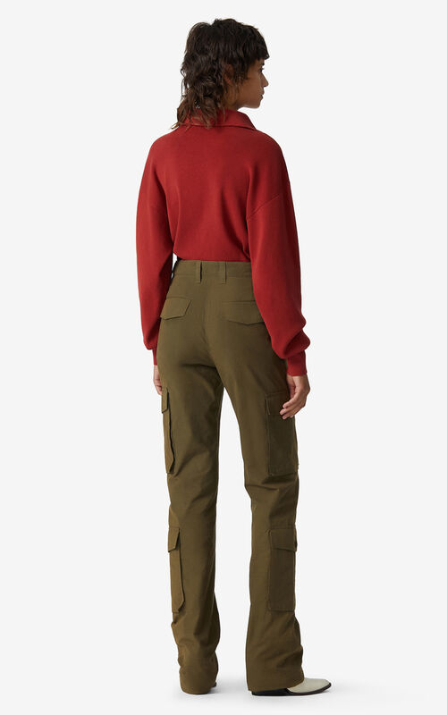 KHAKI Utility trousers for men KENZO