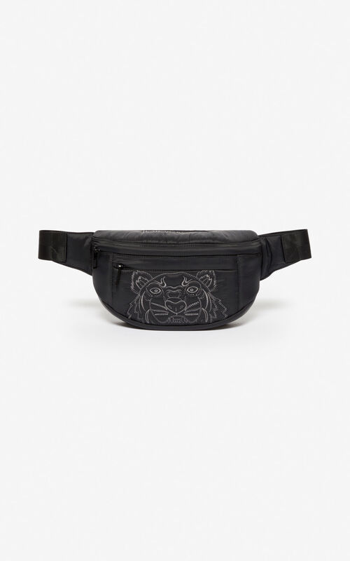 BLACK 'Kampus' Tiger bumbag for unisex KENZO
