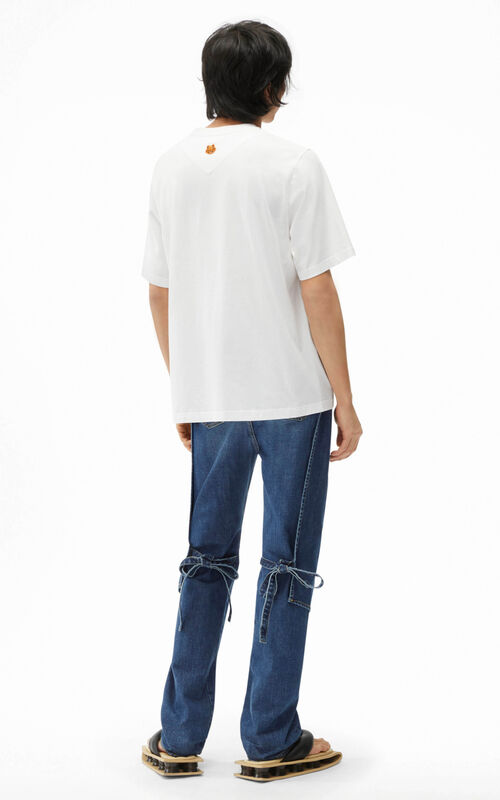 WHITE Oversize 'Poppy' T-shirt for men KENZO