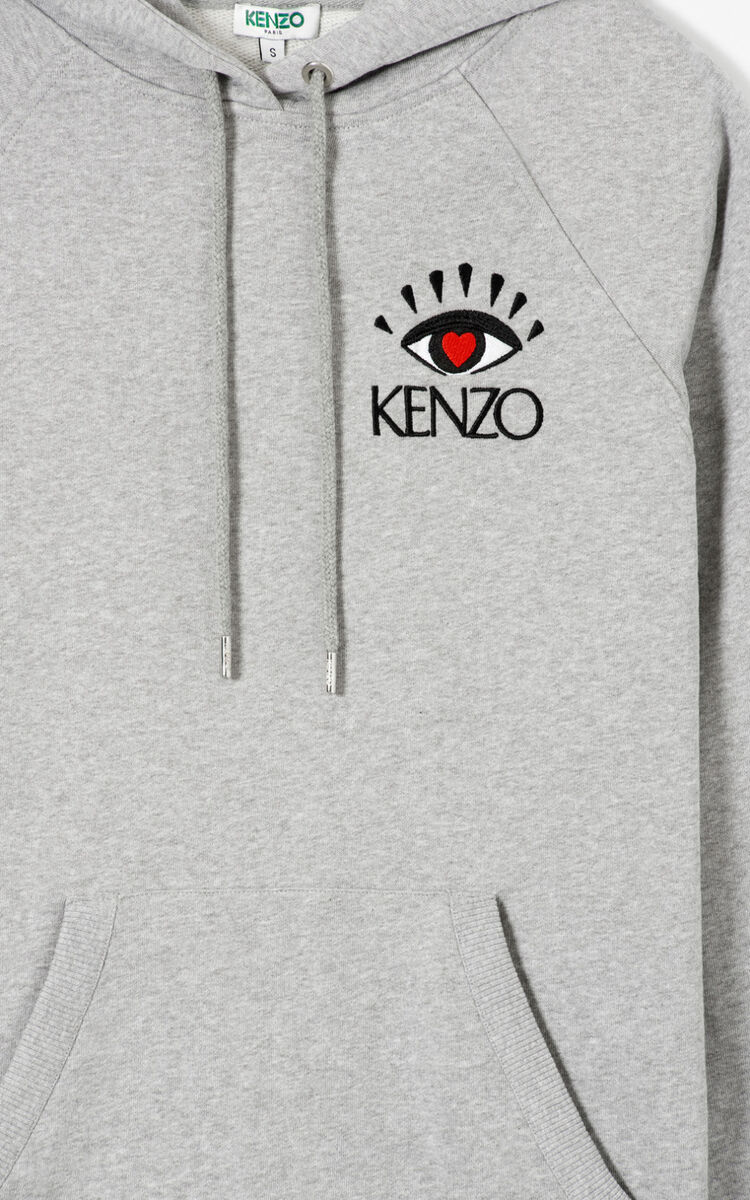 PEARL GREY 'Cupid' hoodie for women KENZO