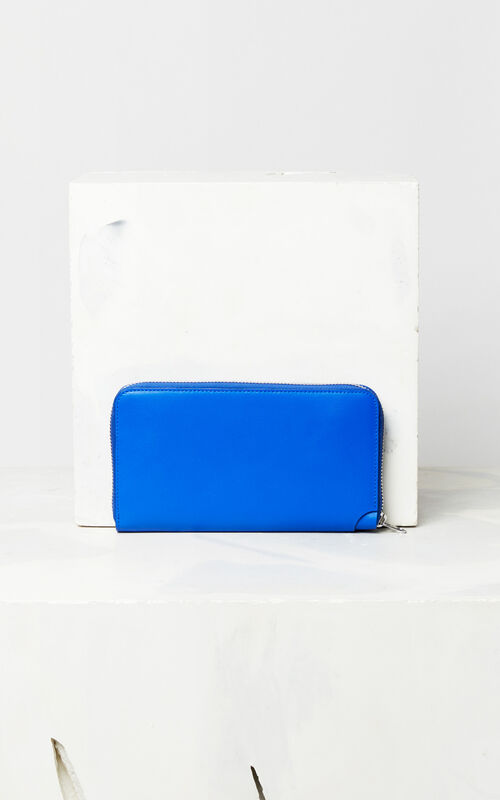 FRENCH BLUE 'Jumping Tiger' leather wallet for unisex KENZO