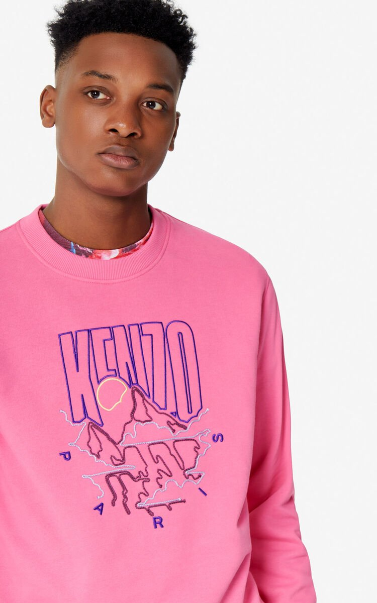 DEEP FUSCHIA 'KENZO Mountain' sweatshirt for women