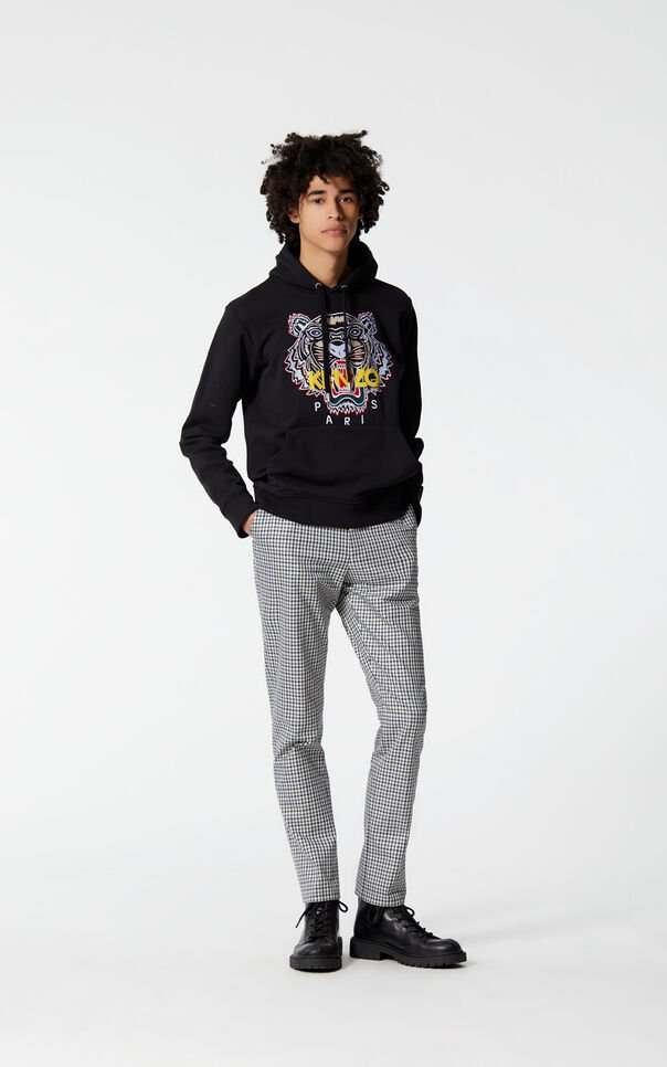 PERRIWINKLE Checked straight-leg trousers for men KENZO