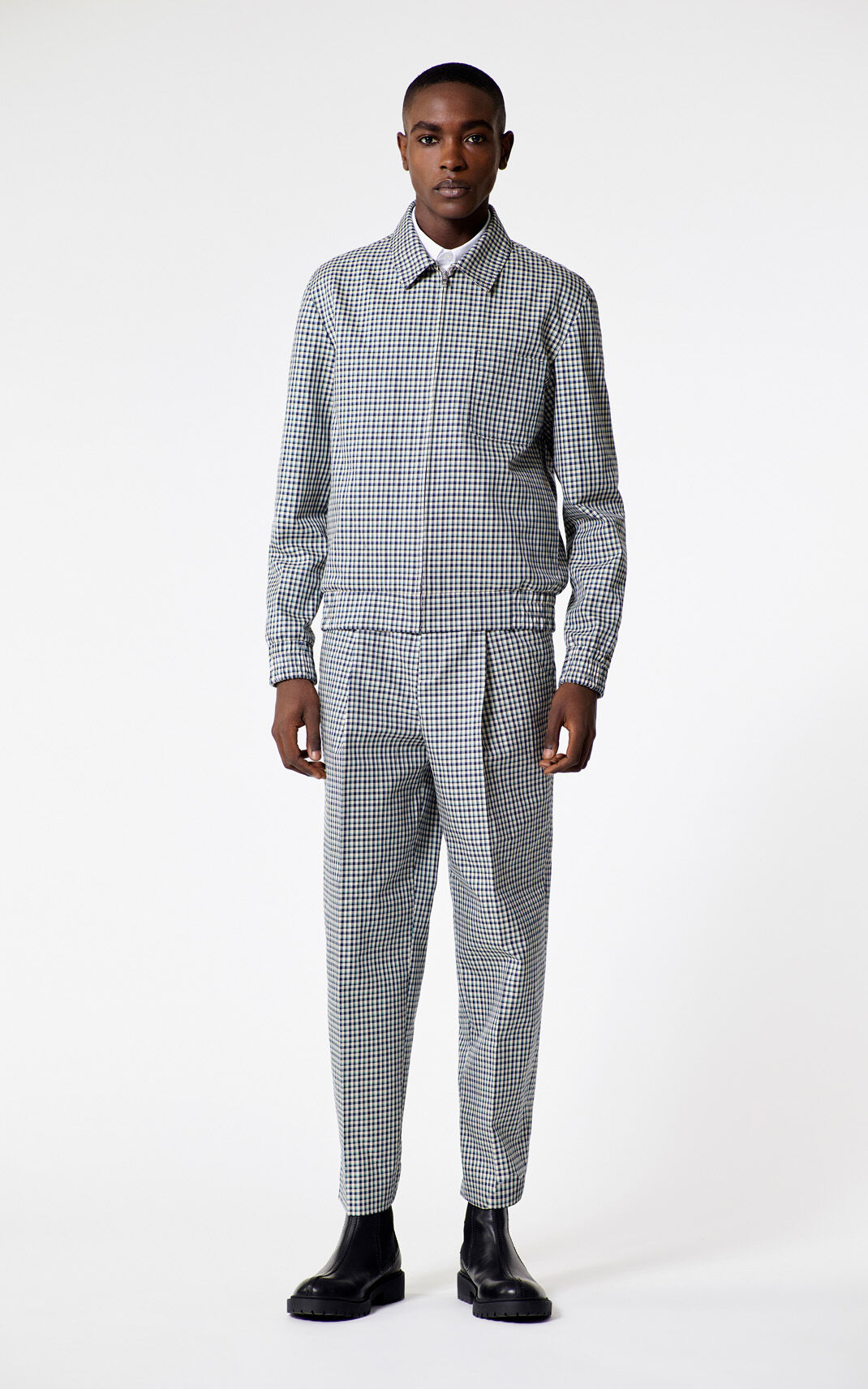PERRIWINKLE Checked jacket for men KENZO
