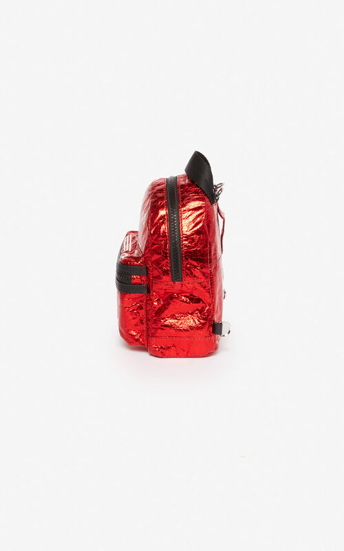 VERMILLION Mini backpack with shiny KENZO logo 'Exclusive Capsule' for unisex