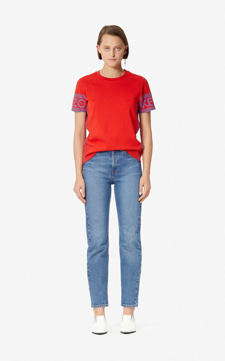 MEDIUM RED KENZO Logo T-shirt for women