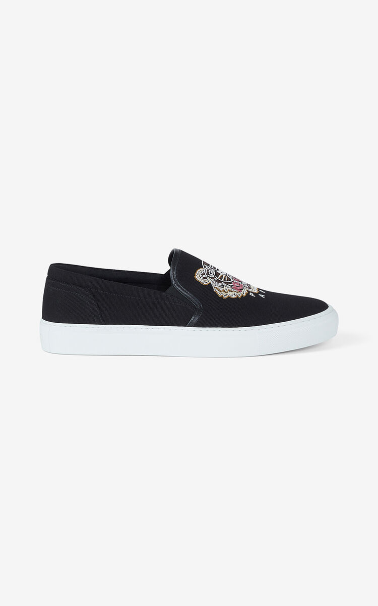 BLACK K-Skate Tiger lace-free trainers for men KENZO