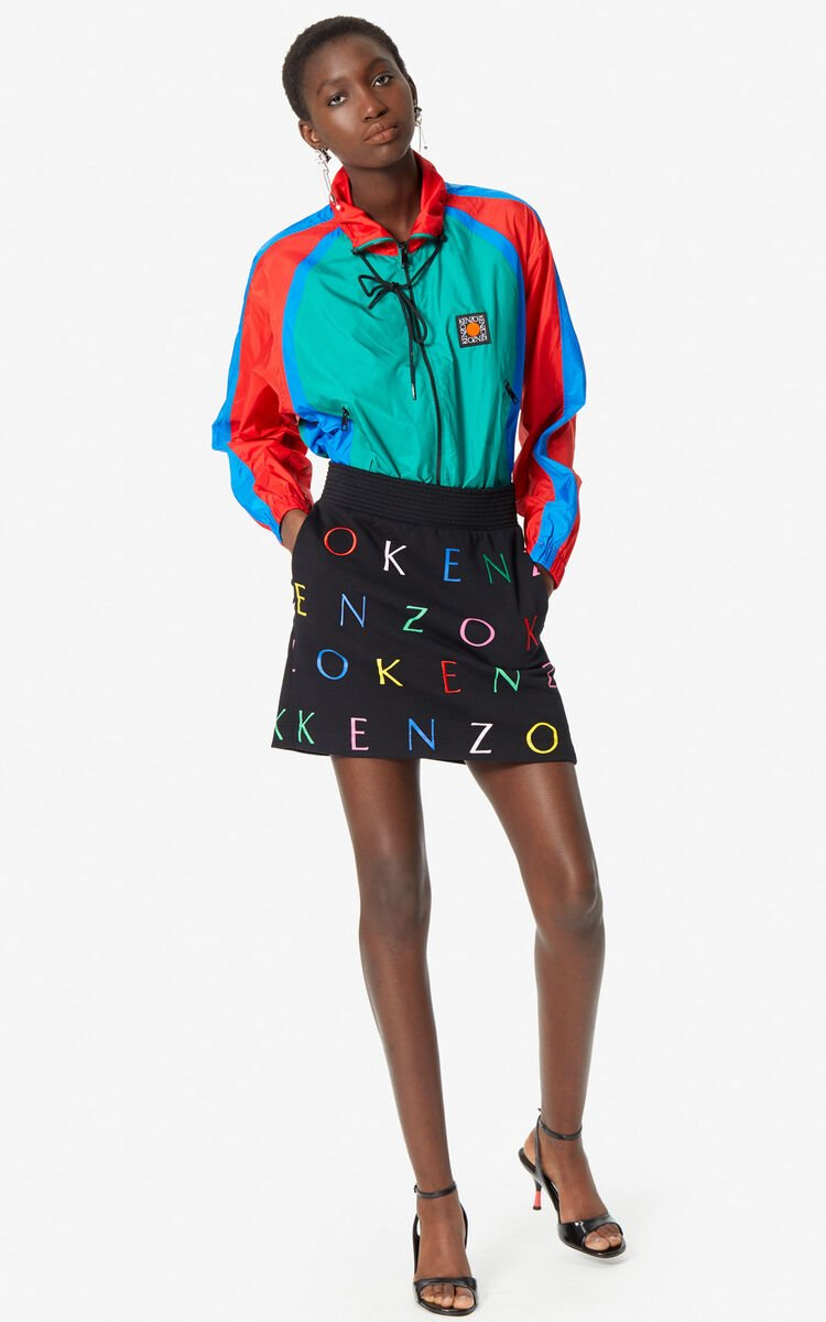 BLACK 'Multilogo' Skirt for women KENZO