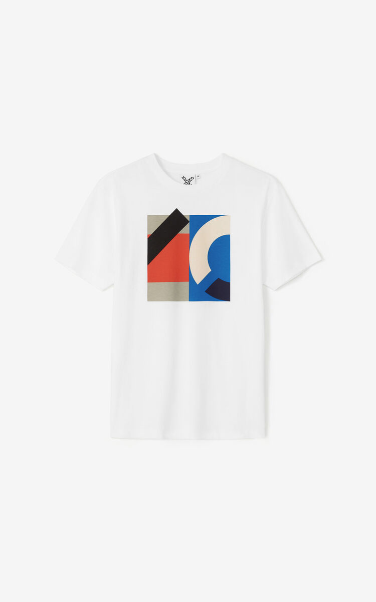 WHITE KENZO Sport T-shirt for men