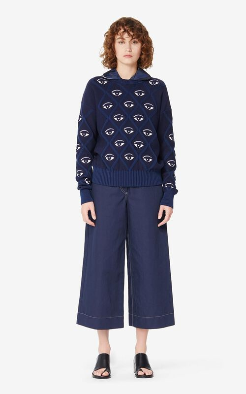 MIDNIGHT BLUE Eye jumper for women KENZO