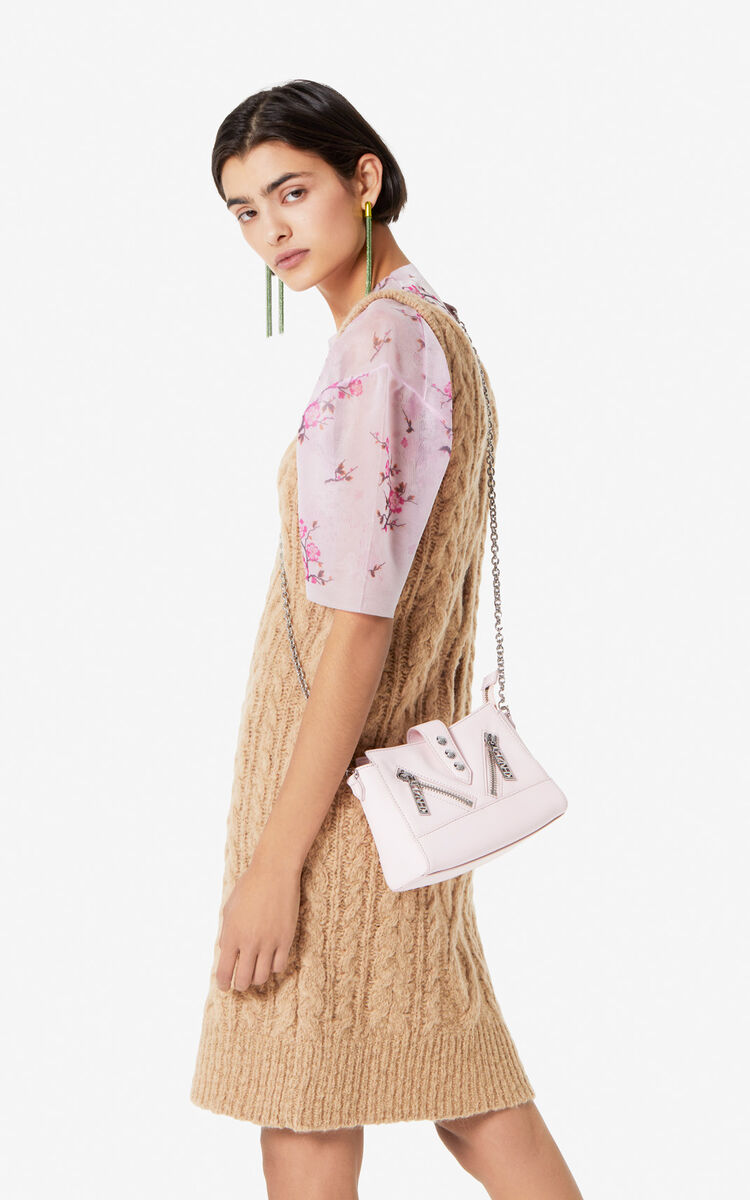 FADED PINK Tiny leather Kalifornia bag for women KENZO