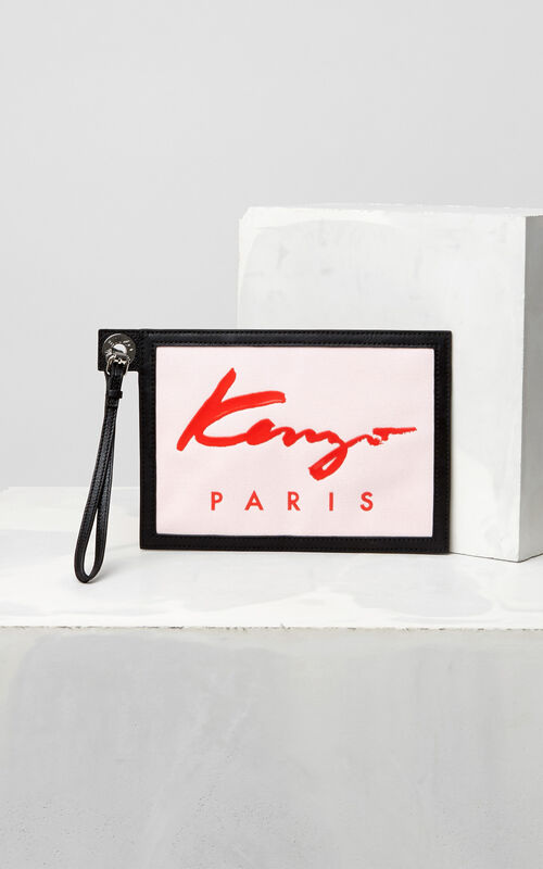 FADED PINK A5 KENZO Signature Clutch