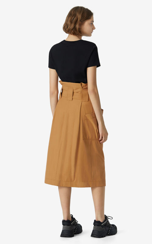 DARK BEIGE High-waisted utility skirt for women KENZO