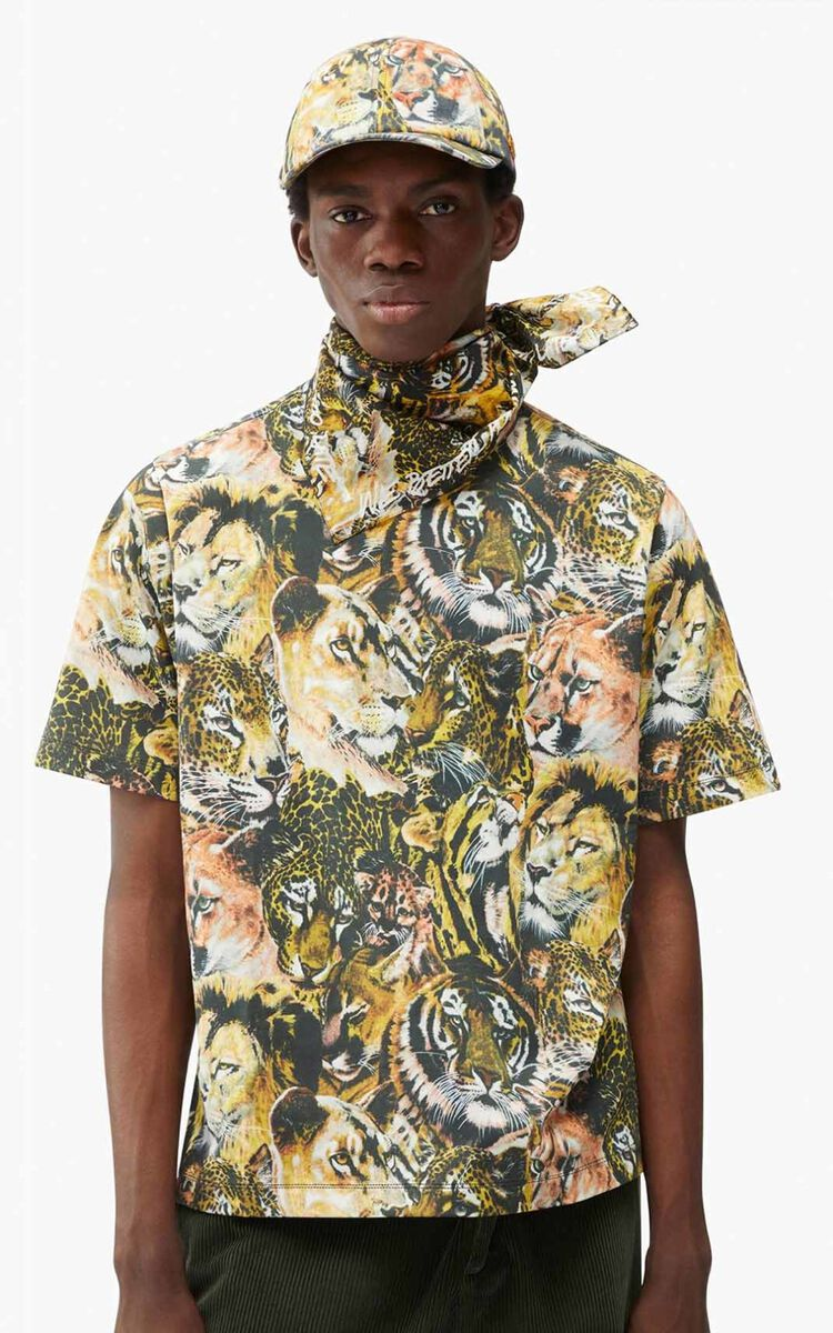 MULTICOLOR 'Wildtigers' oversize T-shirt for women KENZO