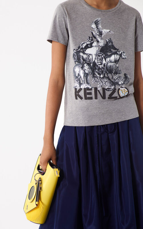DOVE GREY 'Animals' T-shirt for women KENZO