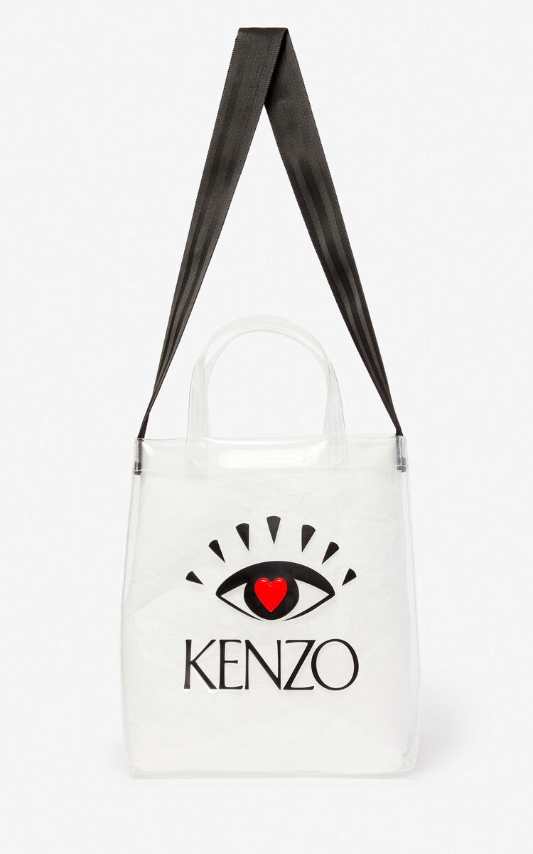 WHITE 'I ❤ KENZO Capsule' tote bag for men