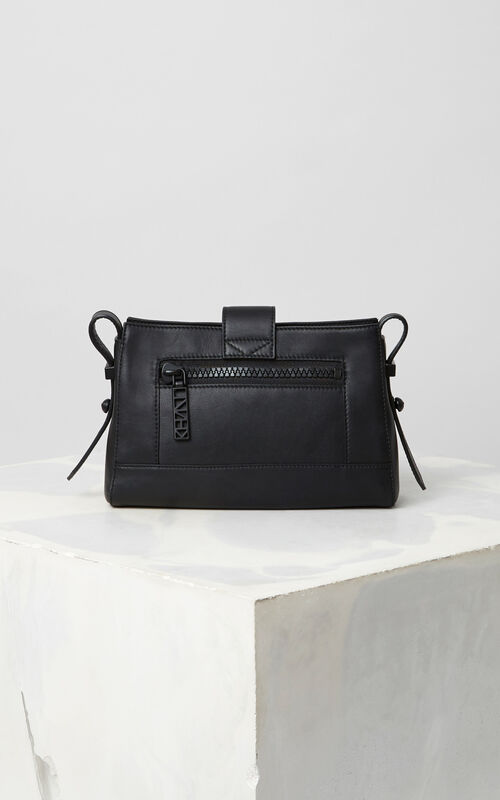BLACK Sport Tiny leather Kalifornia bag for unisex KENZO