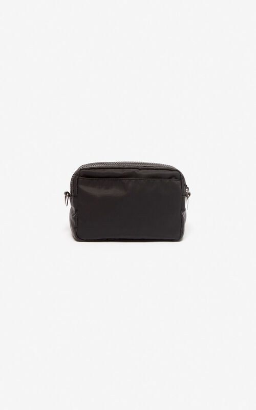 BLACK KENZO Sport shoulder bag for unisex