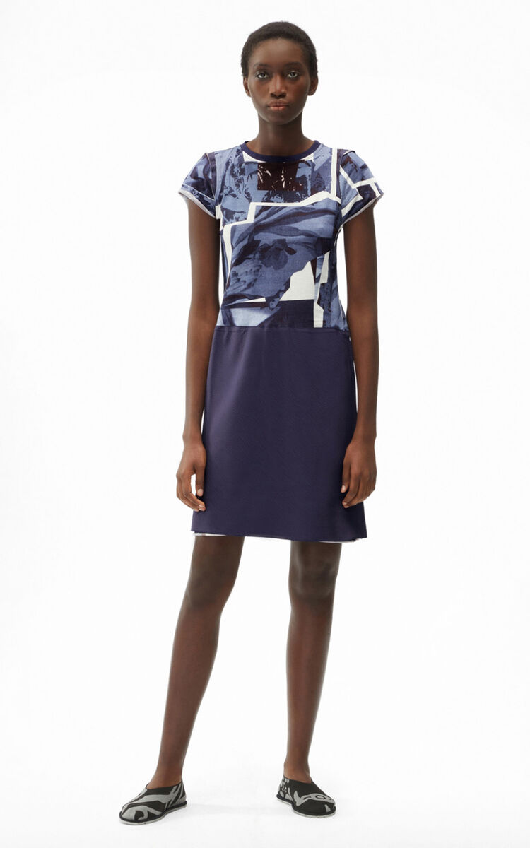 INK 'High Summer Capsule' 'Cut-out Flowers' T-shirt dress for women KENZO