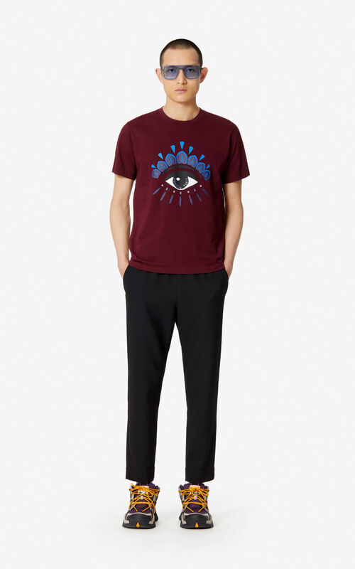 BLACK Textured jogging trousers for men KENZO