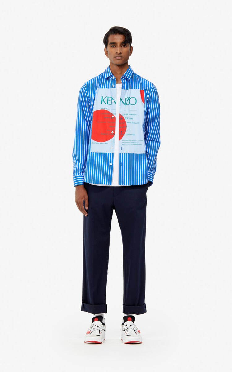 COBALT Striped 'Wedding invitation' shirt for women KENZO